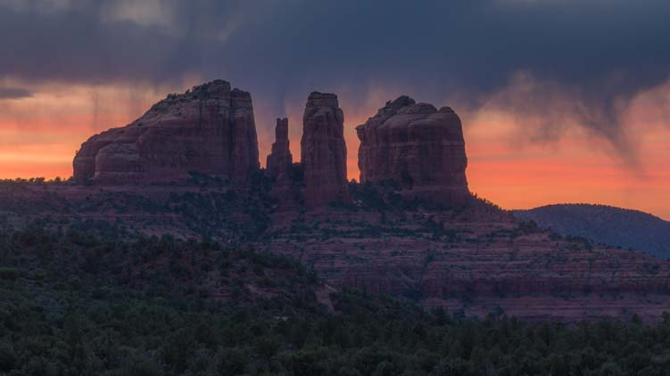 Sunset Cathedral Rock Sedona Arizona