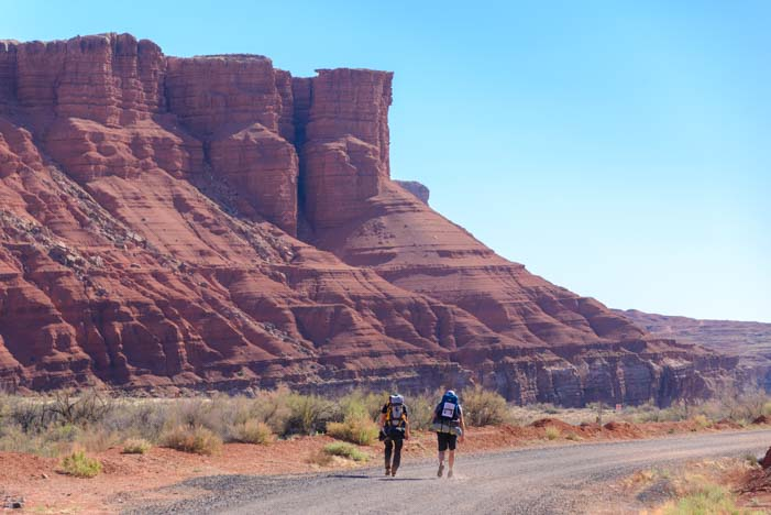 Hikers on Paria River Trail Buckskin Gulch Lees Ferry Arizona
