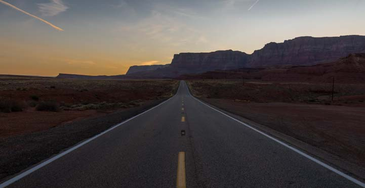 Road at Marble Canyon Arizona