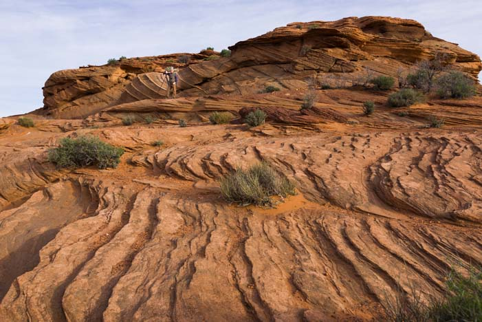 Rock patterns Horseshoe Bend Arizona