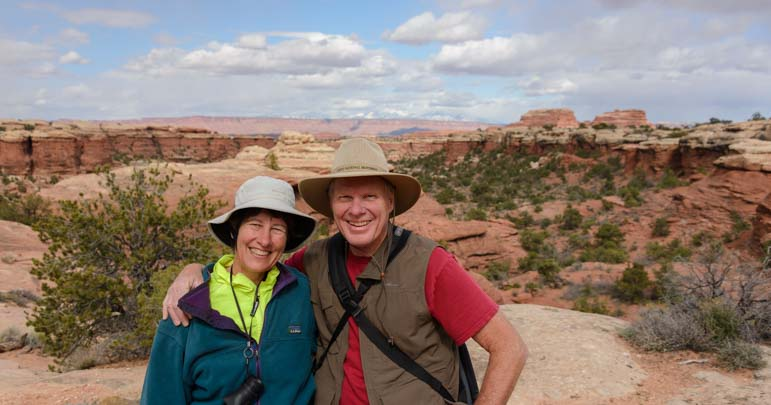 Happy Hikers Canyonlands National Park Needles District Utah