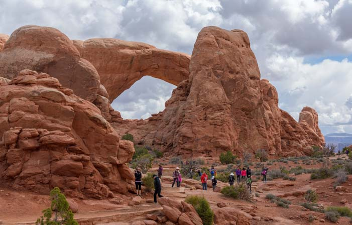 Walking around Arches National Park Utah