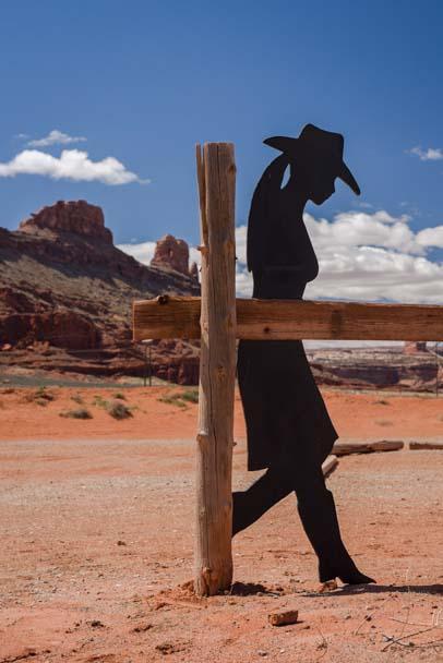 Cowgirl silhouette Moab Utah
