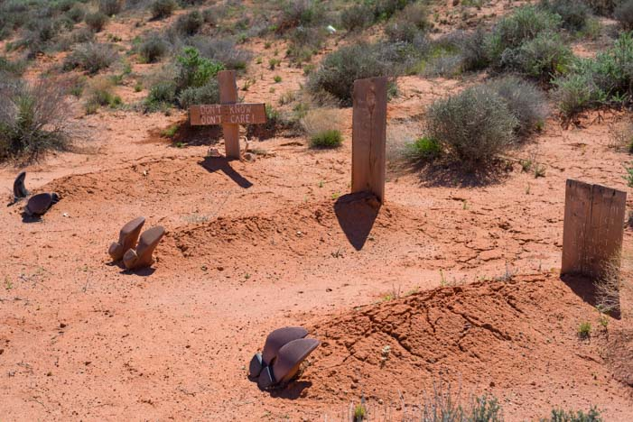 Boot Hill tourist attraction Moab Utah