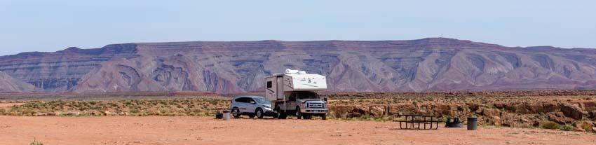 Truck Camper Goosenecks State Park Utah