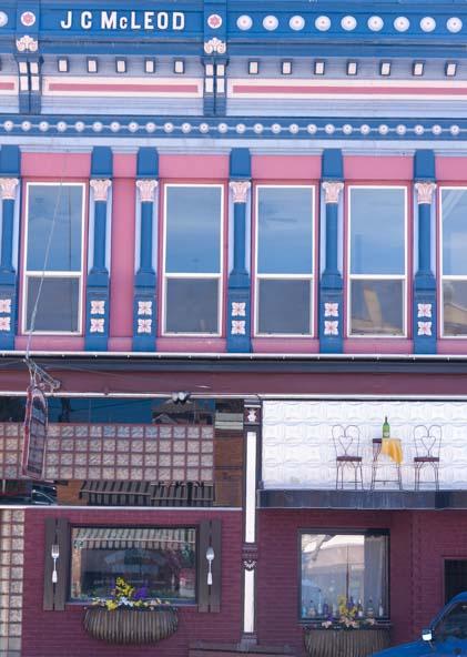 Painted Victorian building Philipsburg Montana