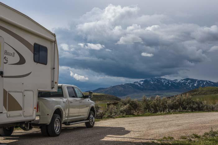 RV camping southeastern Idaho