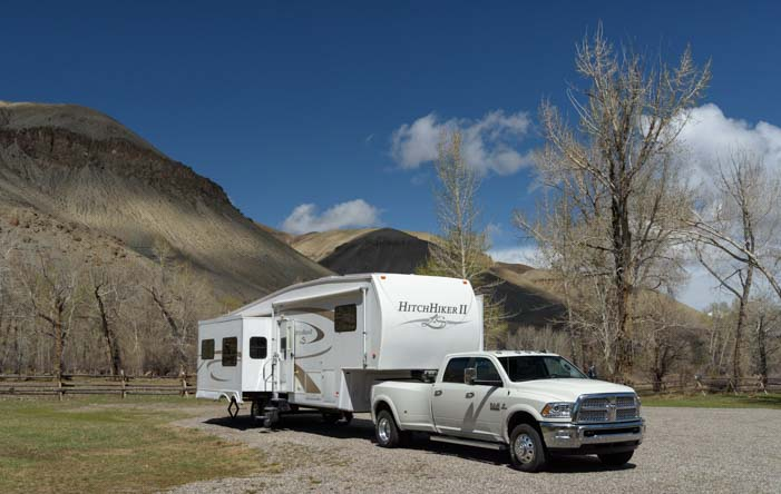 RV camping on the Salmon River Idaho