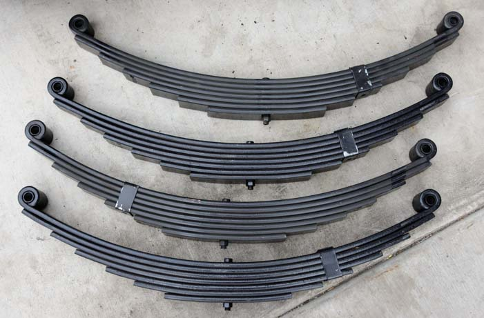 New 8000 lb fifth wheel trailer leaf springs