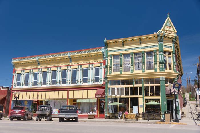 Philipsburg Montana cute main street and pretty buildings