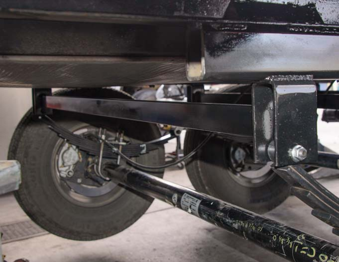 New support for trailer tandem axle suspension