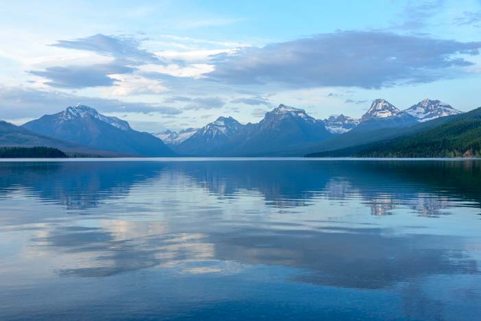 View of Lake McDonald from Apgar Glacier National Park Montana