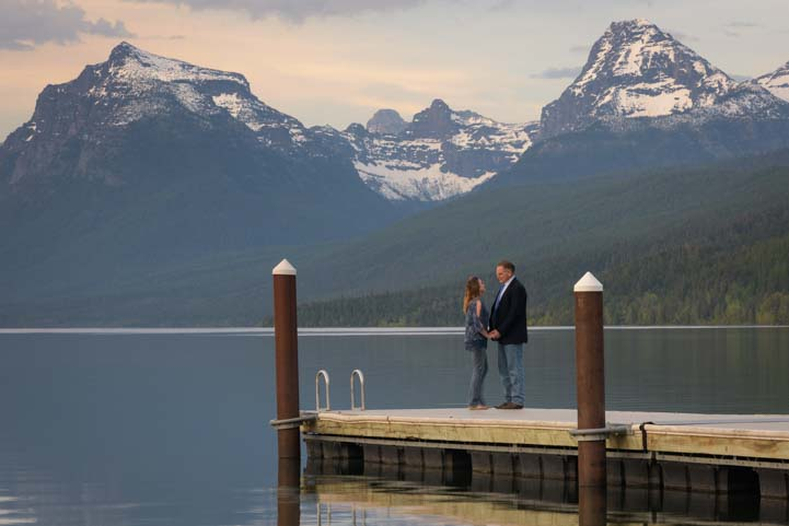 Romance on Lake McDonald Glacier National Park Montana