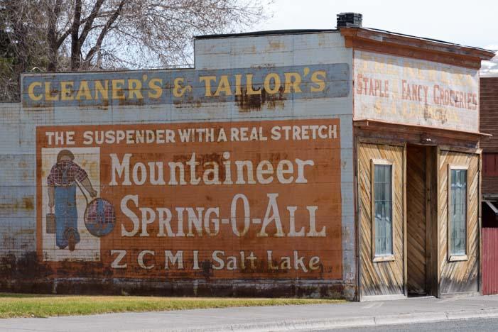 Old store front Mackay Idaho