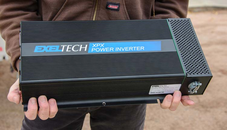 Exeltech XPX 2000 watt pure sine wave inverter living off the grid in an RV
