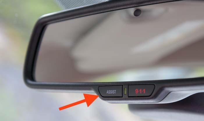 Assist Button Rear View Mirror Dodge Ram 3500 Truck