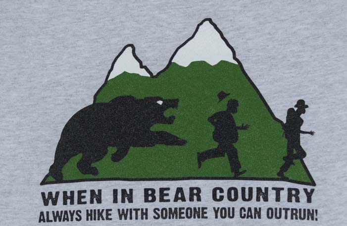 Bear sign hike with someone you can outrun