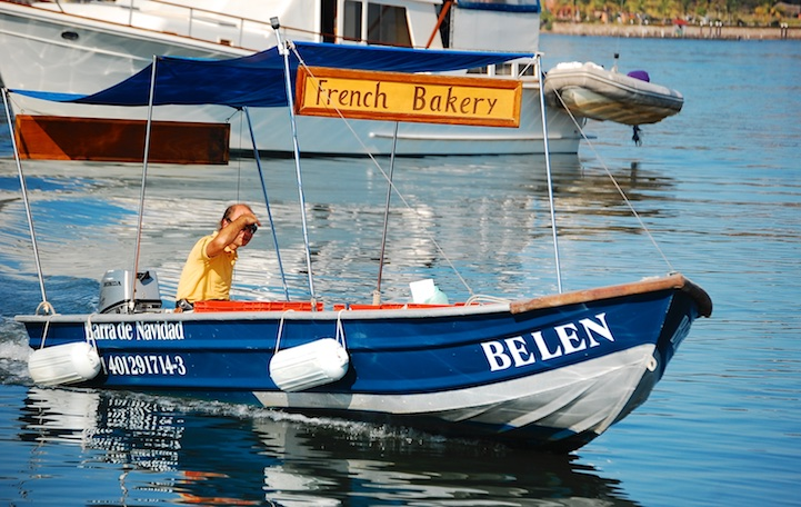 French Baker in Barra de Navidad anchorage in Mexico Costalegre