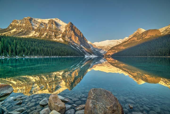 Lake Louise dawn Banff National Park Alberta Canada-2