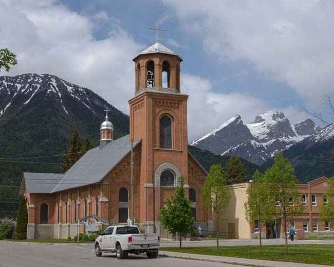 Church in Fernie British Columbia Canada