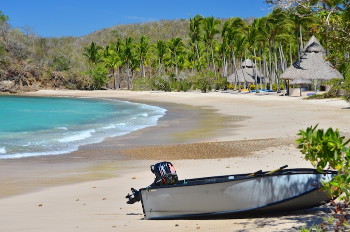 Porta-bote on the beach in Paraiso on the Costalegre Mexico