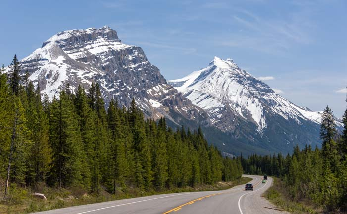 Icefields Parkway Canadian Rocky Mountains Banff National Park