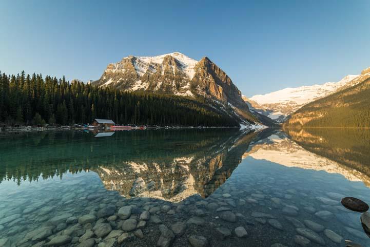 Dawn Lake Louise Banff National Park Alberta Canada