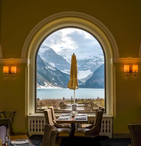 Lake Louise Fairmont Chateau fine dining