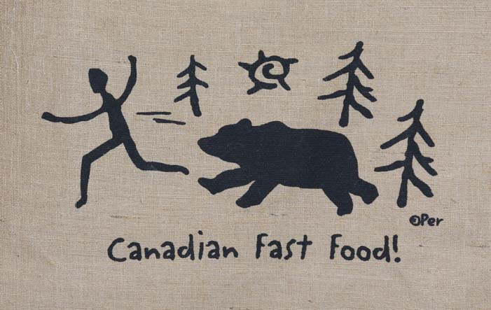 Bear Sign Canadian Fast Food