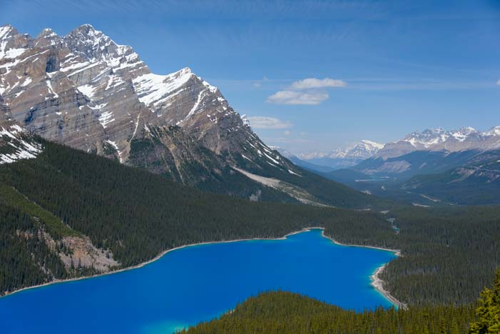 Peyto Lake Icefields Parkway Canadian Rocky Mountains Banff National Park