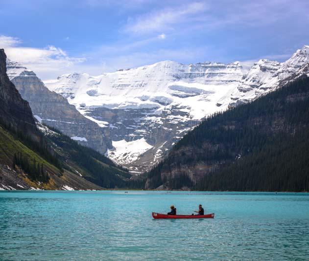 Kayak on Lake Louise Banff National Park Alberta Canada