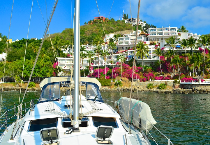 Las Hadas Resort sailing anchorage Manzanillo Mexico Costalegre