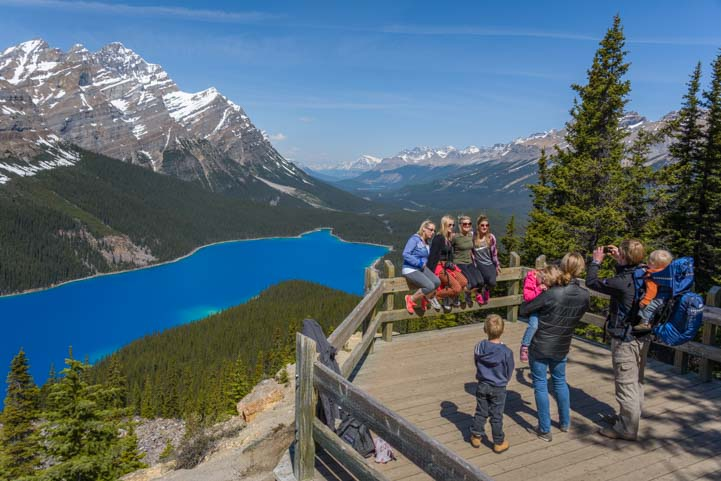 Selfie at Peyto Lake Icefields Parkway Banff National Park Canada