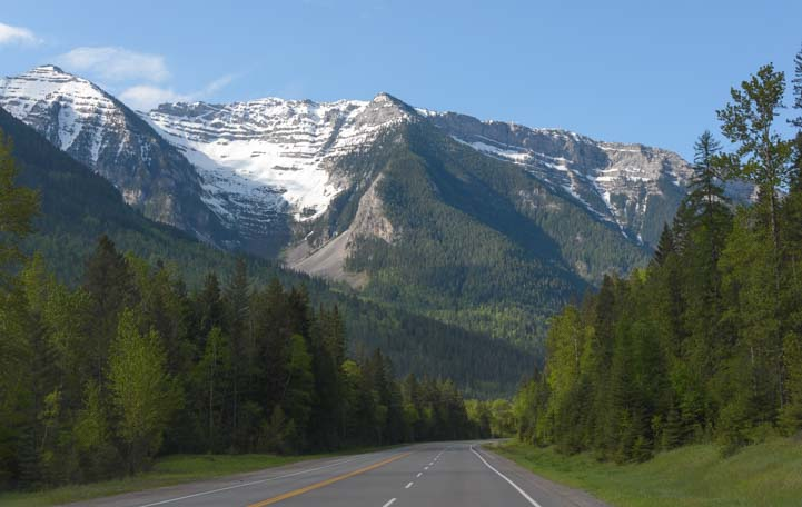 Rocky Mountains in British Columbia Canada