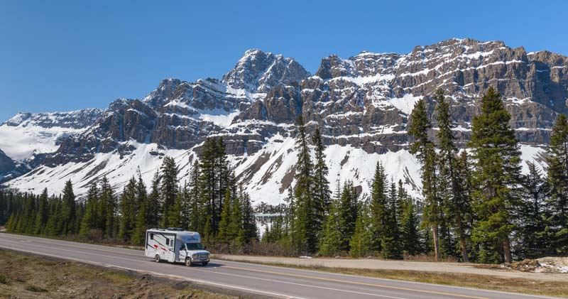 Rental RV Icefields Parkway Banff National Park Canada Rocky Mountains