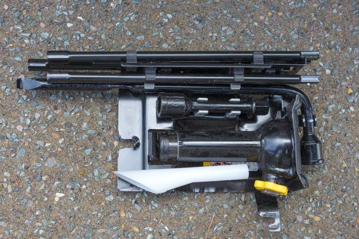 Spare tire toolkit Ram 3500 truck