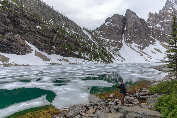 Ice on Lake Agnes Banff National Park Canada