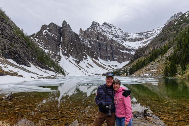 Happy Hikers Lake Agnes Tea House Trail Banff National Park Canada