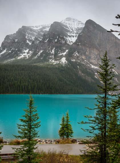 Lake Louise Rain Banff National Park Canada