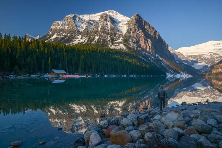 Lake Louise Reflections Banff National Park Alberta Canada