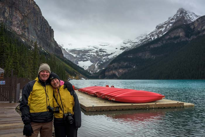 Happy campers Lake Luise Banff National Park Canada