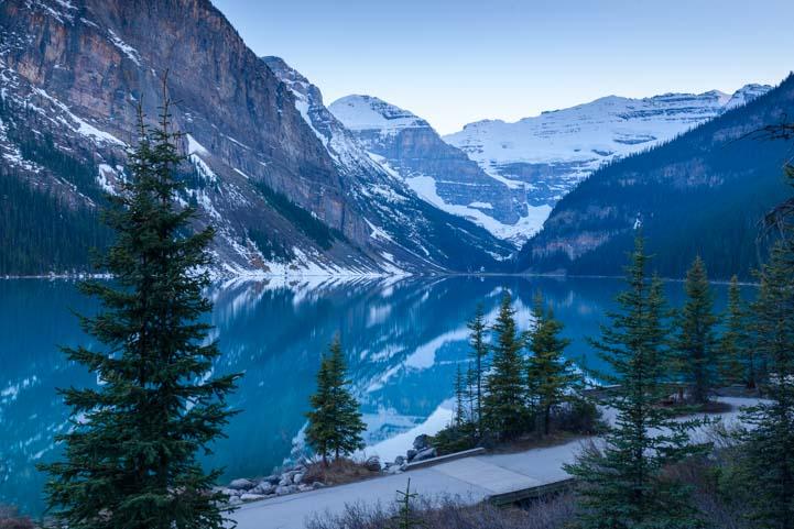 Lake Louise Dusk Banff National Park Alberta Canada