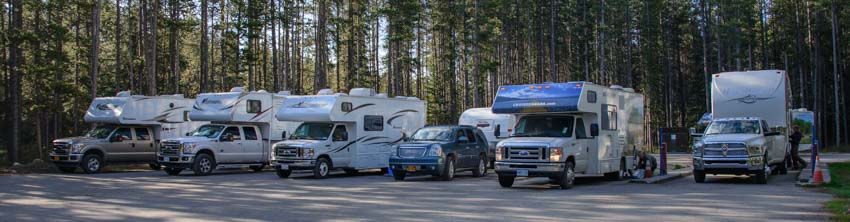 RV dump station Lake Louise Campground Alberta Canada