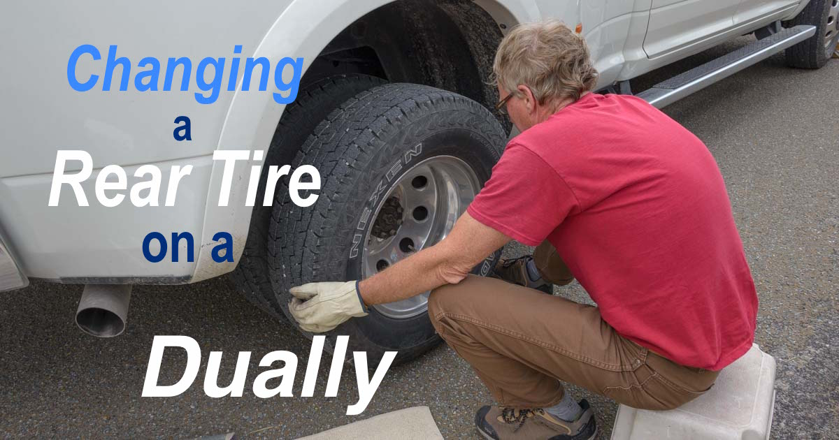 How to change an inside rear tire on a dually truck