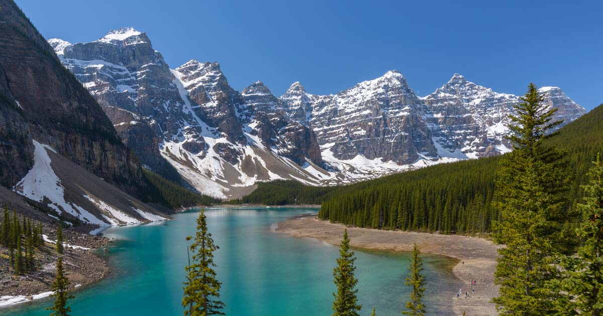 Moraine Lake RV travel Banff National Park Alberta Canada