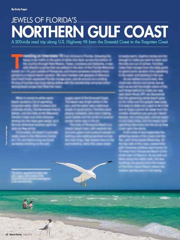 Jewels of Florida's Northern Gulf Coast Trailer Life Magazine July 2016