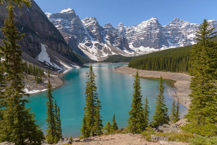 Moraine Lake Rocky Mountains in Canada