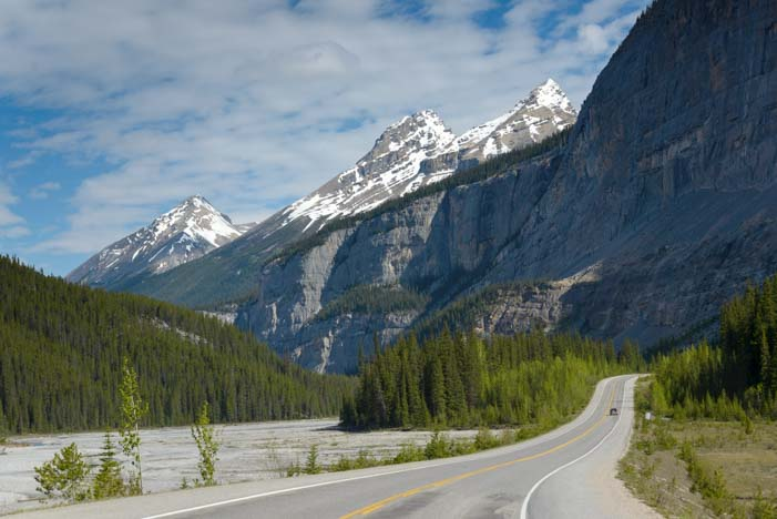 Rocky Mountains Icefields Parkway Jasper National Park Alberta Canada