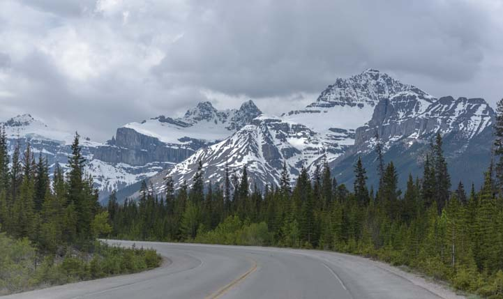 Canadian Rockies Icefields Parkway Clouds