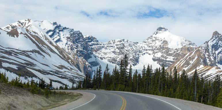 Snow Icefields Parkway Jasper National Park Alberta Canada